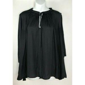 Dolan Left Coast Collection Black Tunic Top Pleate